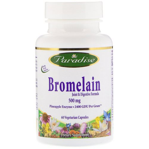 Paradise Herbs, Bromelain, Joint & Digestive Formula, 500 mg, 60 Vegetable Capsules Review