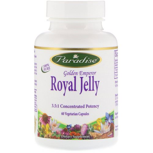 Paradise Herbs, Golden Emperor Royal Jelly, 60 Vegetarian Capsules Review