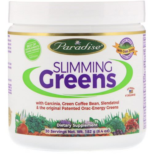 Paradise Herbs, Slimming Greens, 6.4 oz (182 g) Review