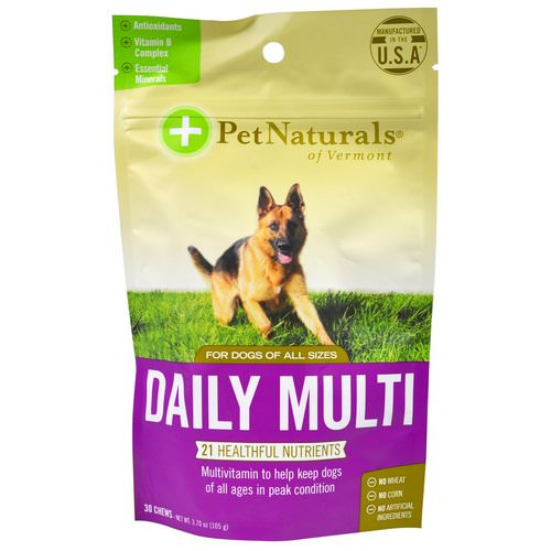 Pet Naturals of Vermont, Daily Multi, For Dogs, 30 Chews, 3.70 oz (105 g) Review