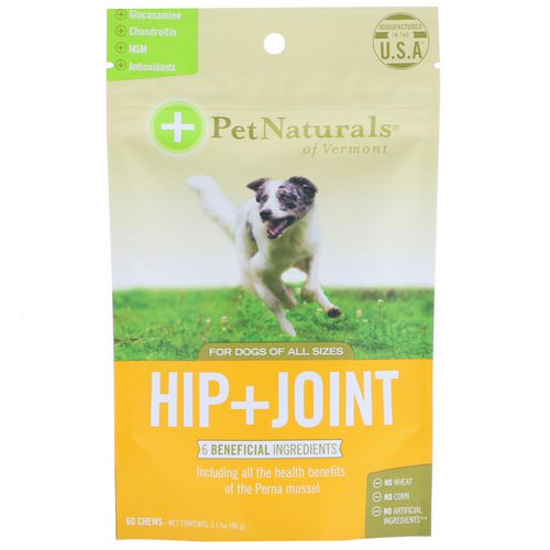 Pet Naturals of Vermont, Hip + Joint, For Dogs All Sizes, 60 Chews, 3.17 oz (90 g) Review