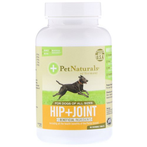 Pet Naturals of Vermont, Hip + Joint, For Dogs of All Sizes, 90 Chewable Tablets Review