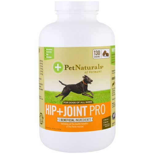 Pet Naturals of Vermont, Hip + Joint Pro, For Dogs, 130 Chews, 18.34 oz (520 g) Review