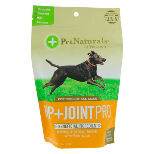 Pet Naturals of Vermont, Hip + Joint Pro, For Dogs, 60 Chews, 11.2 oz (318 g) Review