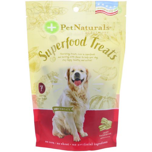 Pet Naturals of Vermont, Superfood Treats for Dogs, Crispy Bacon Recipe, 100+ Treats, 8.5 oz (240 g) Review