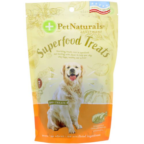 Pet Naturals of Vermont, Superfood Treats for Dogs, Homestyle Chicken Recipe, 100+ Treats, 8.5 oz (240 g) Review