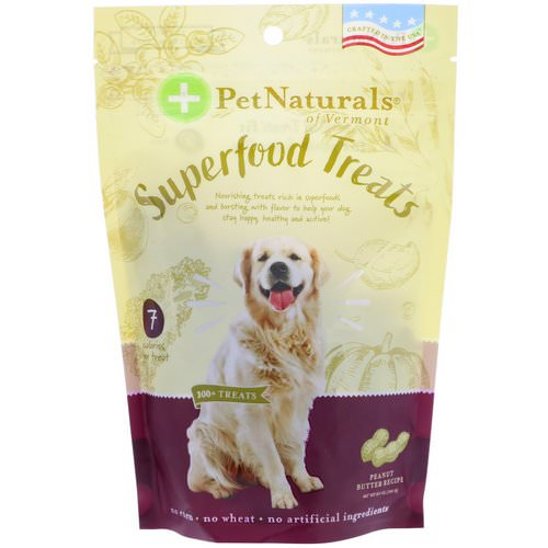 Pet Naturals of Vermont, Superfood Treats for Dogs, Peanut Butter Recipe, 100+ Treats, 8.5 oz (240 g) Review