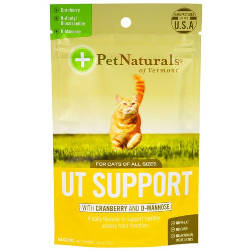 Pet Naturals of Vermont, UT Support with Cranberry and D-Mannose, For Cats, 60 Chews, 2.65 oz (75 g) Review