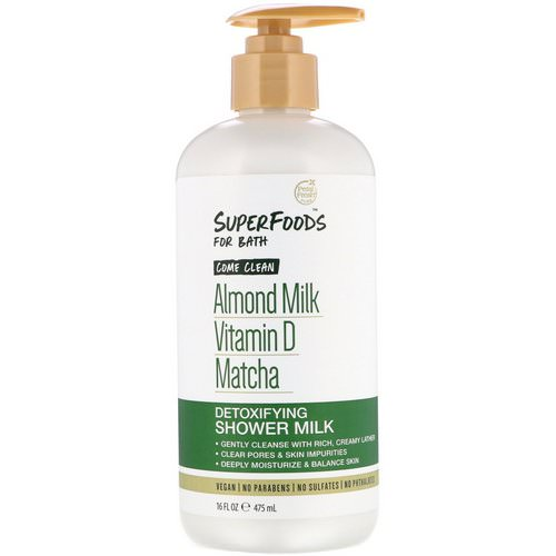 Petal Fresh, Pure, SuperFoods for Bath, Come Clean Detoxifying Shower Milk, Almond Milk, Vitamin D & Matcha, 16 fl oz (475 ml) Review
