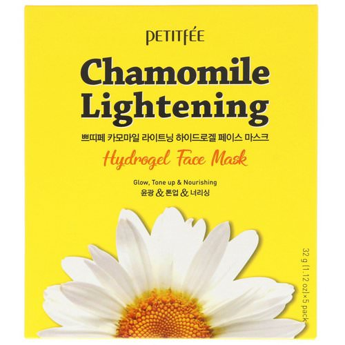 Petitfee, Chamomile Lightening, Hydrogel Face Mask, 5 Pack, 1.12 oz (32 g) Each Review