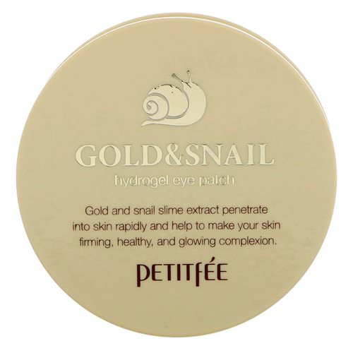 Petitfee, Gold & Snail Hydrogel Eye Patch, 60 Pieces Review
