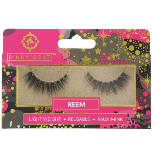 Pinky Goat, Reem, Light Weight False Eyelashes, 1 Pair Review