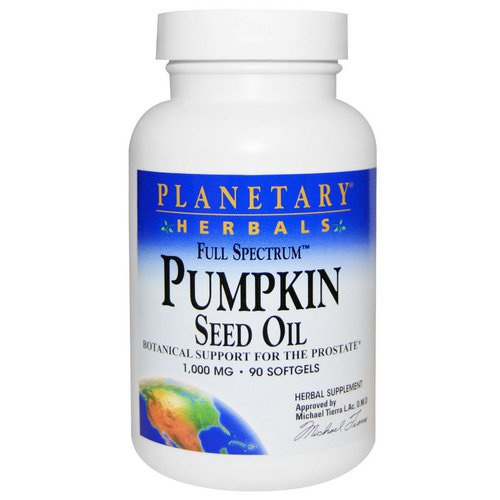 Planetary Herbals, Full Spectrum, Pumpkin Seed Oil, 1,000 mg, 90 Softgels Review