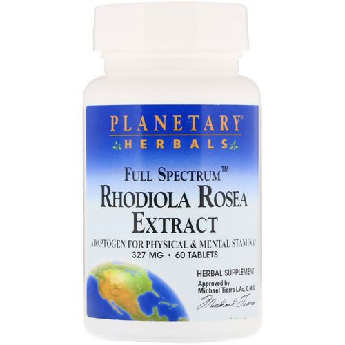 Planetary Herbals, Rhodiola Rosea Extract, Full Spectrum, 327 mg, 60 Tablets Review