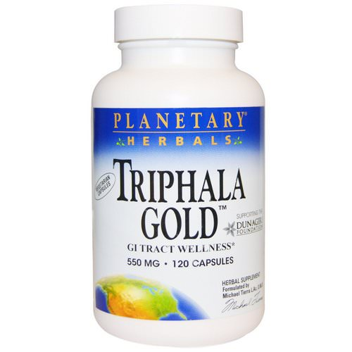 Planetary Herbals, Triphala Gold, GI Tract Wellness, 550 mg, 120 Capsules Review