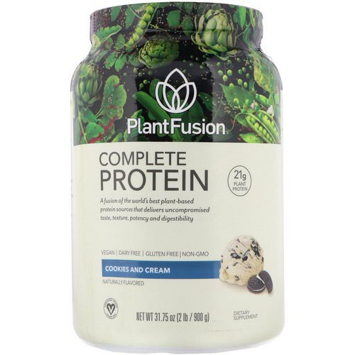 PlantFusion, Complete Protein, Cookies and Cream, 2 lb (900 g) Review