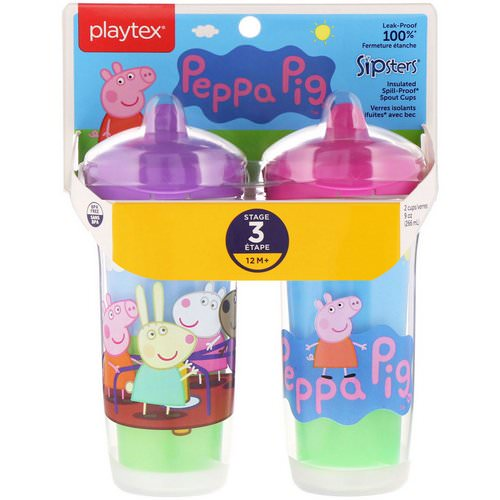 Playtex Baby, Sipsters, Peppa Pig, 12+ Months, 2 Cups, 9 oz (266 ml) Each Review