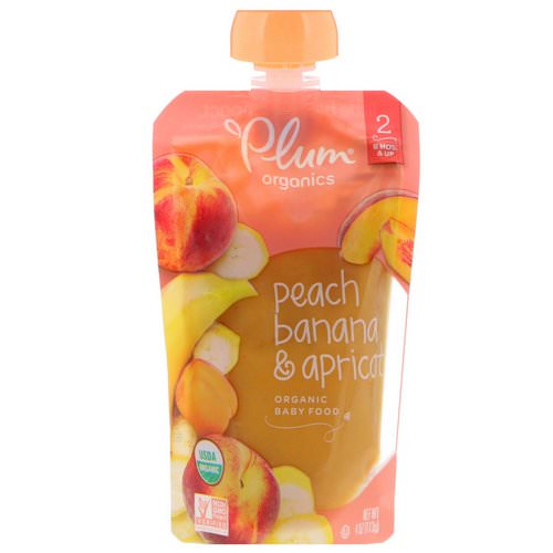 Plum Organics, Organic Baby Food, Stage 2, Peach, Banana & Apricot, 4 oz (113 g) Review