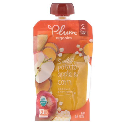 Plum Organics, Organic Baby Food, Stage 2, Sweet Potato, Apple & Corn, 4 oz (113 g) Review