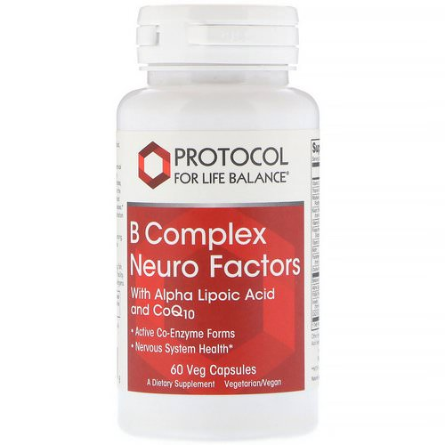 Protocol for Life Balance, B Complex Neuro Factors, 60 Veg Capsules Review