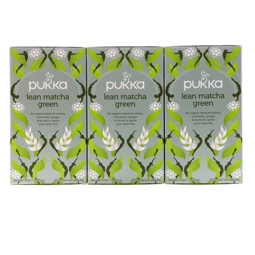 Pukka Herbs, Lean Matcha Green, 3 Pack, 20 Herbal Tea Sachets Each Review