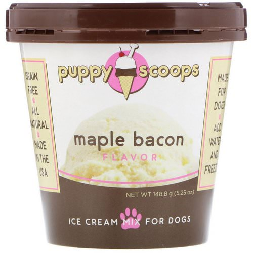 Puppy Cake, Ice Cream Mix For Dogs, Maple Bacon Flavor, 5.25 oz (148.8 g) Review