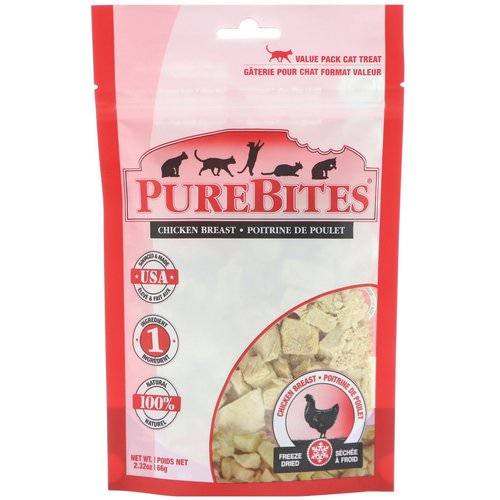 Pure Bites, Freeze Dried, Cat Treats, Chicken Breast, 2.32 oz (66 g) Review