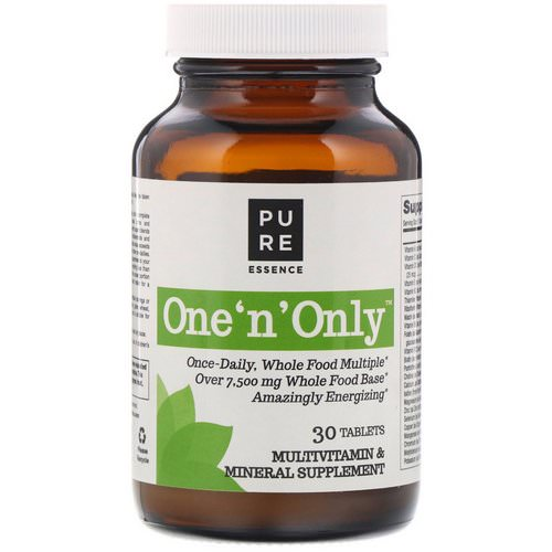 Pure Essence, One 'n' Only, Multivitamin & Mineral, 30 Tablets Review