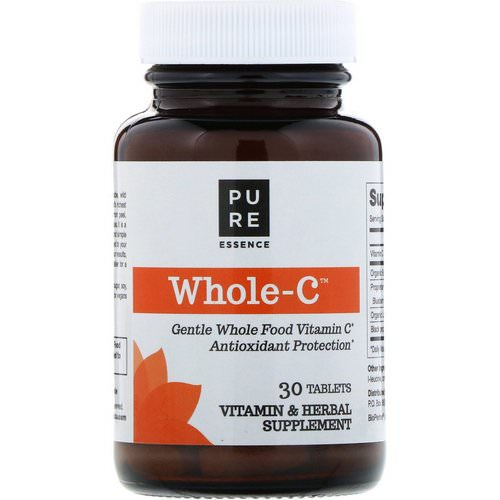 Pure Essence, Whole C, Whole Food Vitamin C, 30 Tablets Review