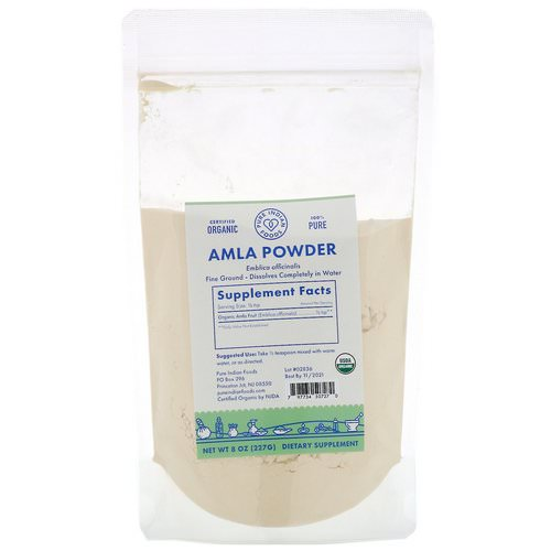 Pure Indian Foods, Organic Amla Powder, 8 oz (227 g) Review
