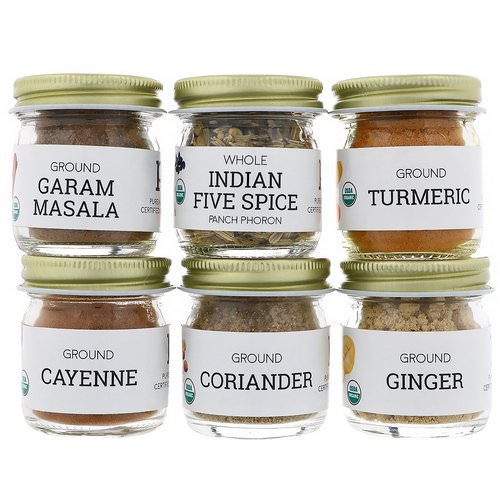 Pure Indian Foods, Organic Indian Spice Starter Kit, Experience Level: Beginner, Variety Pack, 6 Seasonings Review