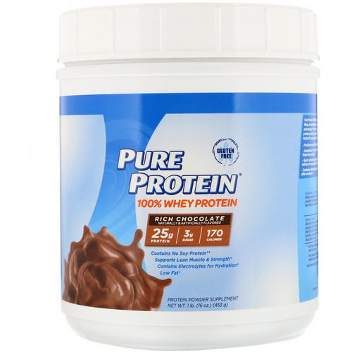Pure Protein, 100% Whey Protein, Rich Chocolate, 1 lb (453 g) Review