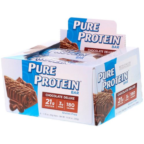 Pure Protein, Chocolate Deluxe Bar, 6 Bars, 1.76 oz (50 g) Each Review