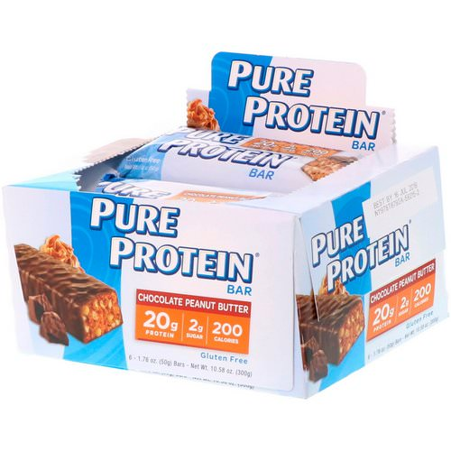 Pure Protein, Chocolate Peanut Butter Bar, 6 Bars, 1.76 oz (50 g) Each Review