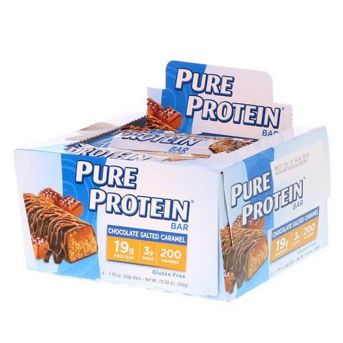 Pure Protein, Chocolate Salted Caramel Bar, 6 Bars, 1.76 oz (50 g) Each Review