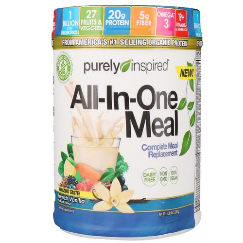Purely Inspired, All-In-One Meal, Complete Meal Replacement, French Vanilla, 1.30 lbs (590 g) Review