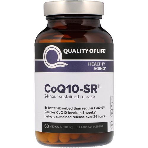 Quality of Life Labs, CoQ10-SR, 100 mg, 60 Vegicaps Review