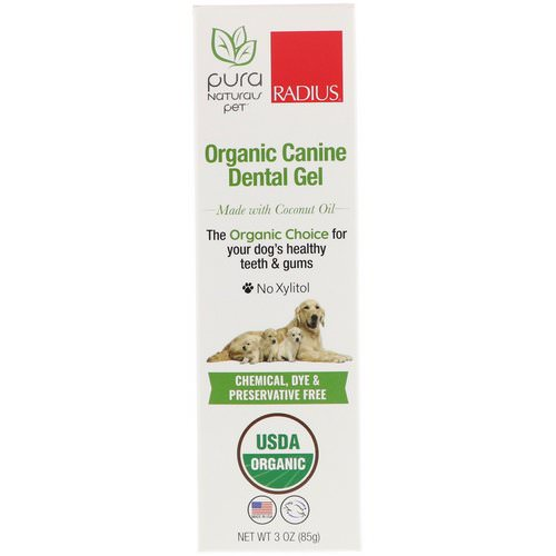RADIUS, Organic Canine Dental Gel, 3 oz (85 g) Review