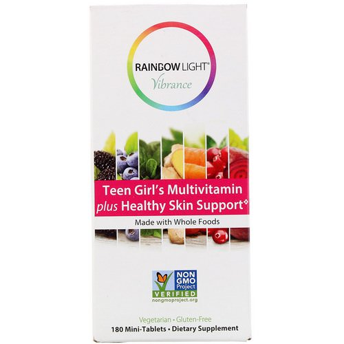 Rainbow Light, Vibrance, Teen Girl's Multivitamin plus Healthy Skin Support, 180 Mini-Tablets Review