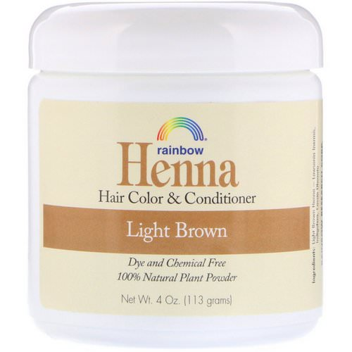Rainbow Research, Henna, Hair Color and Conditioner, Light Brown, 4 oz (113 g) Review