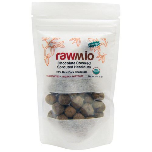 Rawmio, Chocolate Covered Sprouted Hazelnuts, 2 oz (57 g) Review