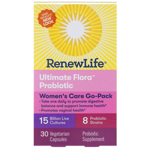 Renew Life, Women's Care Go-Pack, Ultimate Flora Probiotic, 15 Billion Live Cultures, 30 Vegetarian Capsules Review