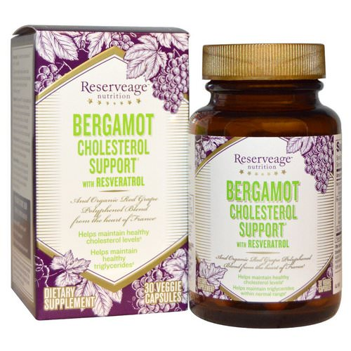 ReserveAge Nutrition, Bergamot Cholesterol Support with Resveratrol, 30 Veggie Caps Review