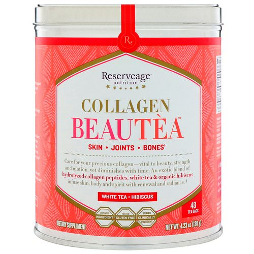 ReserveAge Nutrition, Collagen Beautea, White Tea + Hibiscus, 48 Tea Bags Review