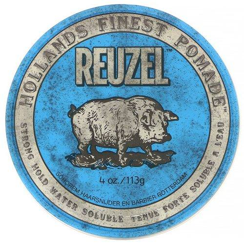 Reuzel, Blue Pomade, Water Soluble, Strong Hold, 4 oz (113 g) Review