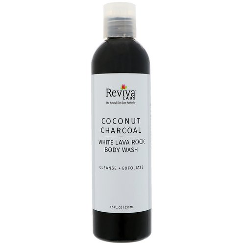 Reviva Labs, Coconut Charcoal White Lava Rock Body Wash, 8 fl oz (236 ml) Review
