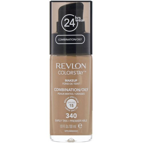 Revlon, Colorstay, Makeup, Combination/Oily, 340 Early Tan, 1 fl oz (30 ml) Review