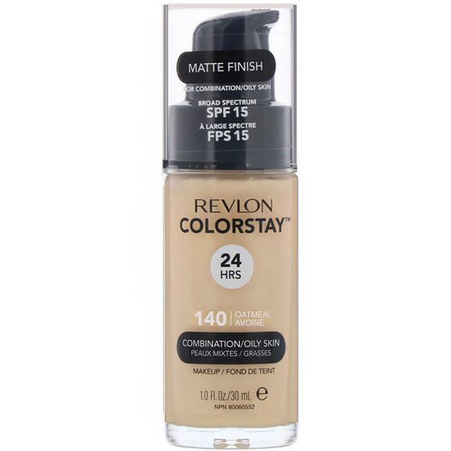 Revlon, Colorstay, Makeup, Combination/Oily Skin, 140 Oatmeal, 1 fl oz (30 ml) Review