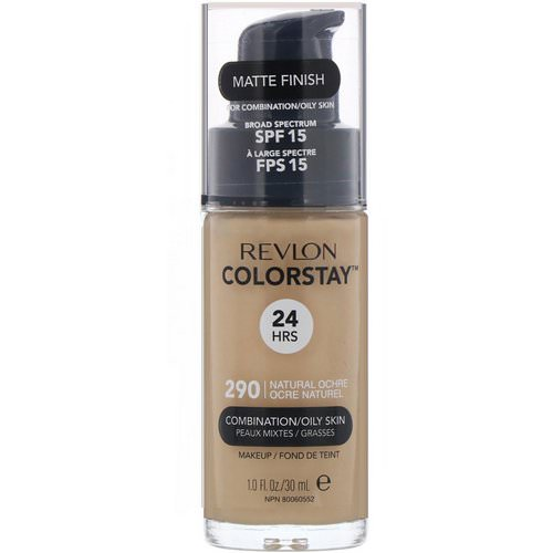 Revlon, Colorstay Makeup, Combination/Oily, SPF 15, 290 Natural Ochre, 1 fl oz (30 ml) Review