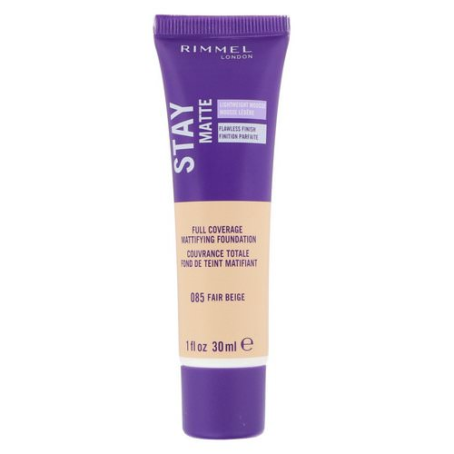 Rimmel London, Stay Matte Full Coverage Mattifying Foundation, 085 Fair Beige, 1 fl oz (30 ml) Review